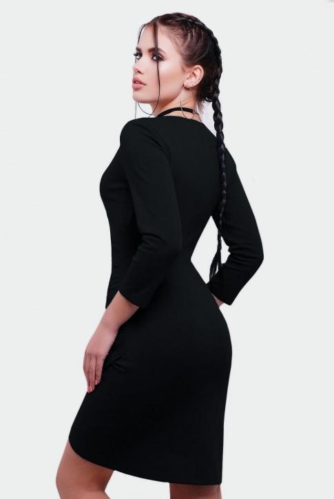 """Черное платье с запахом """"Amelie"""" PL-1592D (фото 2)"""