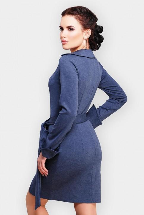 Трикотажное платье Teresa цвета темный джинс