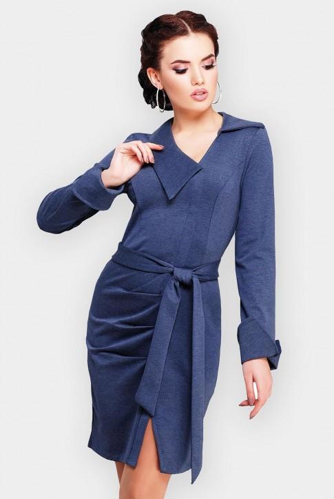 Трикотажное платье Teresa цвета темный джинс (фото 2)