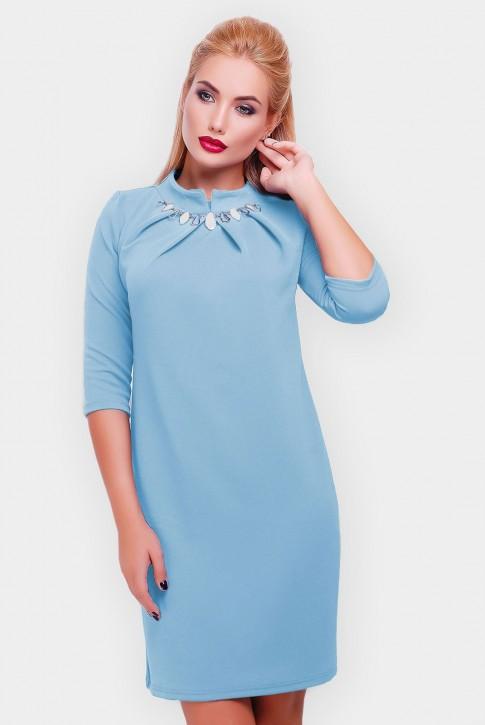 """Голубое платье """"Бусинка"""" PL-1357G"""