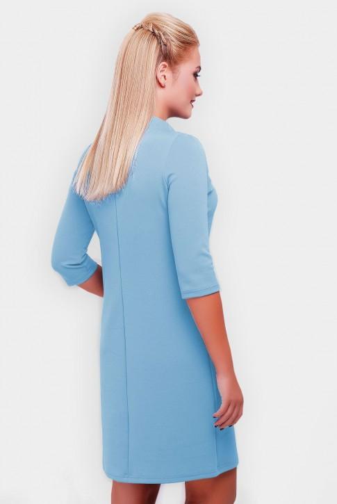 """Голубое платье """"Бусинка"""" PL-1357G (фото 2)"""