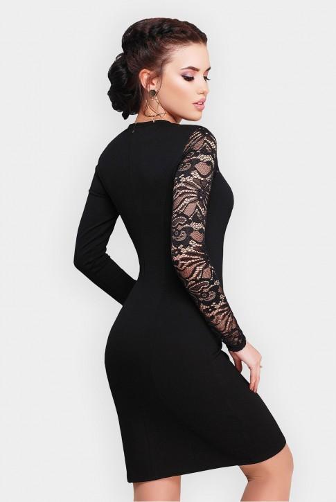 """Черное платье """"Chantal"""" с кружевным верхом (фото 2)"""