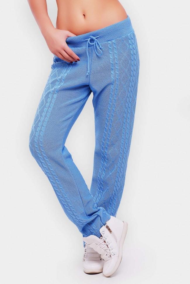 Штаны голубые мелкой вязки - SHV0001