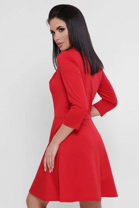Короткое вечернее платье красного цвета PL-1751C (фото 2)
