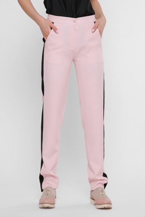 Розовые брюки с черными лампасами. SHT-1759A
