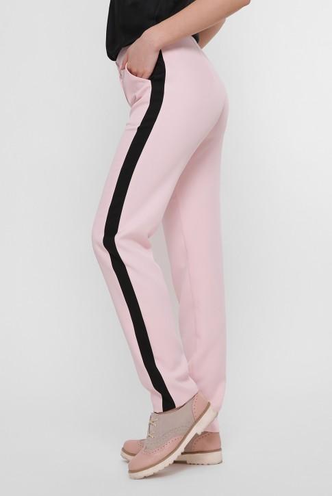 Розовые брюки с черными лампасами. SHT-1759A (фото 2)