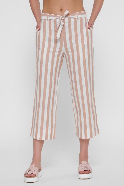 Короткие женские брюки в полоску. BRK-292A