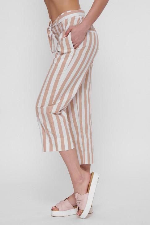 Короткие женские брюки в полоску. BRK-292A (фото 2)