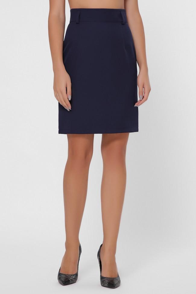 Темно-синяя классическая юбка. YUB-1015A