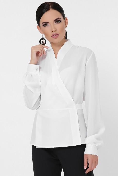 Блузка на запах белого цвета BZ-1783B