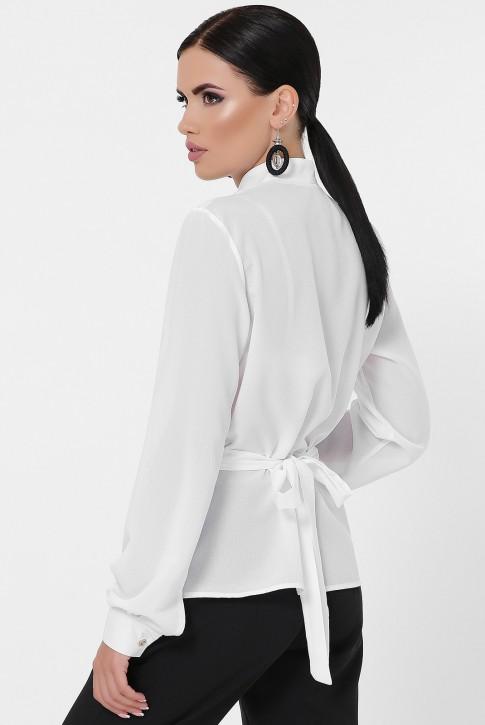 Блузка на запах белого цвета BZ-1783B (фото 2)