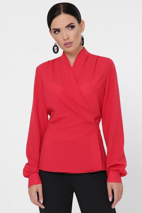 Красная блузка на запах BZ-1783C