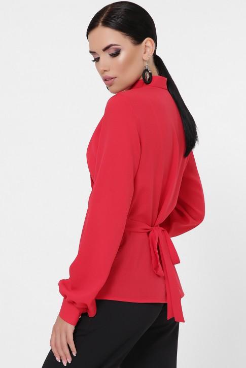 Красная блузка на запах BZ-1783C (фото 2)