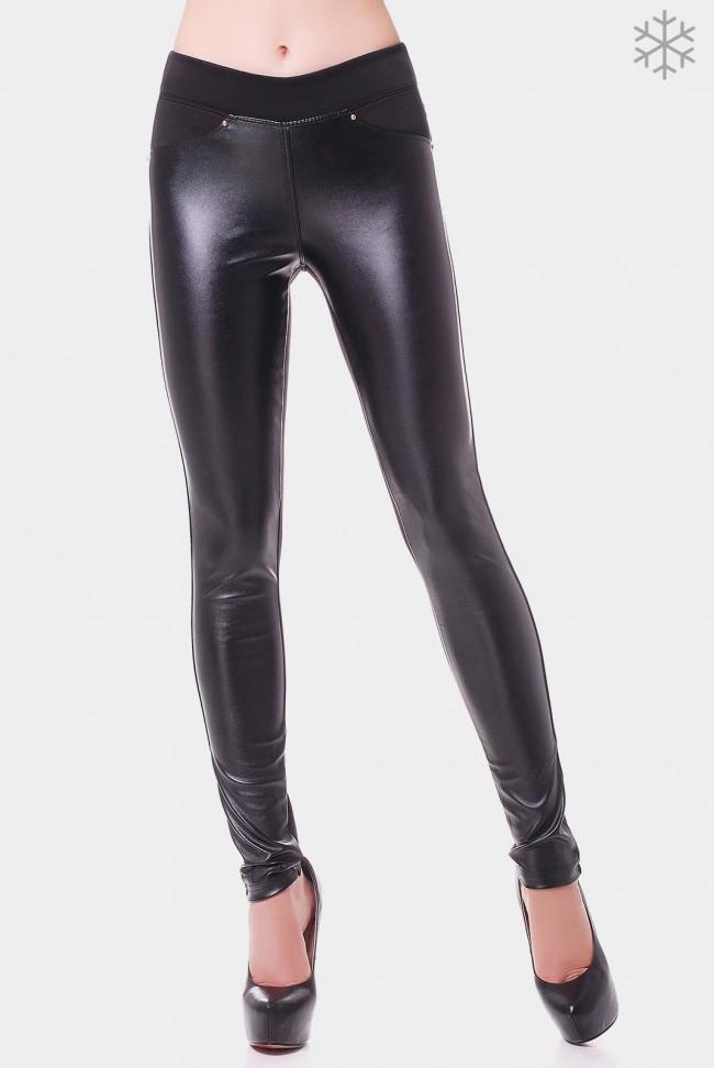 Лосины Fleece Leather LSN-107A